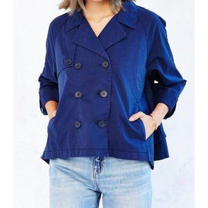 Kimchi Blue Twill Cropped Trench Coat